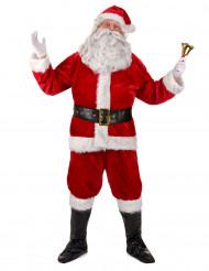 Disfarce completo Pai Natal Luxo adulto