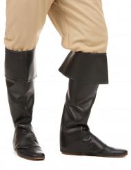 Cobre botas pretos adulto