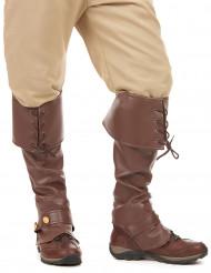 Cobre botas castanhos adulto