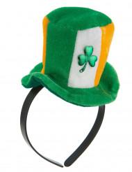 Bandolete com mini chapéu Irlanda trevos adulto
