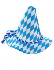 Chapéu bávaro azul e branco adulto