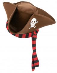 Chapéu de pirata castanho adulto