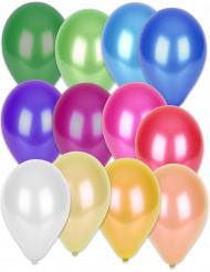50 Balões metalizados de cores diferentes