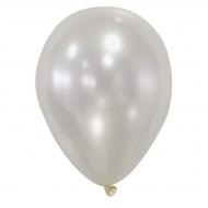 50 Balões cor de marfim metalizados