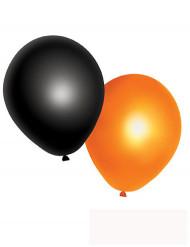 10 Balões cor de laranja e pretos Halloween