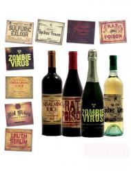 8 Rótulos para garrafas Halloween