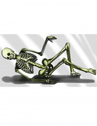 Decoração plástica esqueleto sofá Halloween