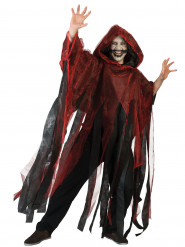Capa vermelha e preta adulto Halloween