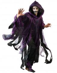 Capa lilás e preta adulto Halloween