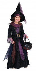 Disfarce bruxa dos bosques veludo menina Halloween