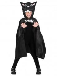 Capa gato 75 cm criança Halloween