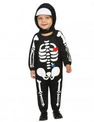 Disfarce bébé esqueleto menino Halloween