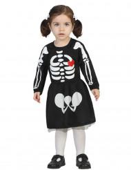 Disfarce bébé esqueleto menina Halloween