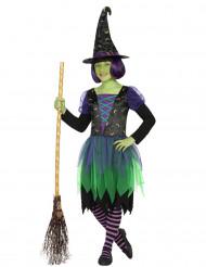 Disfarce bruxa lunar menina Halloween