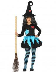 Disfarce original bruxa menina Halloween