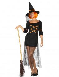 Disfarce de bruxa sexy mulher Halloween