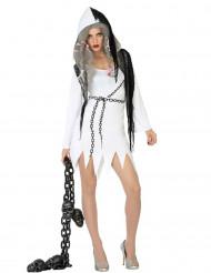 Disfarce fantasma sexy mulher Halloween