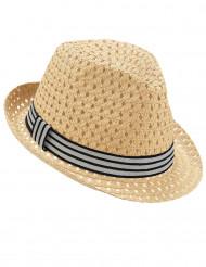 Chapéu perfurado dançarino com fita tricolor - adulto