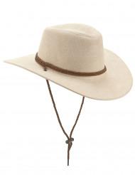 Chapéu cowboy luxo bege adulto