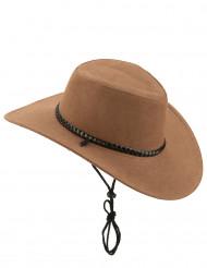 Chapéu cowboy luxo castanho adulto