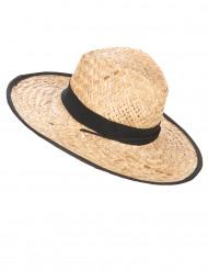 Chapéu Cowboy com fita e bordos pretos