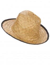 Chapéu Cowboy com os bordos pretos adulto