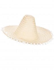 Sombrero mexicano com pompons adulto