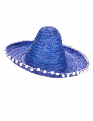 Sombrero mexicano azul adulto