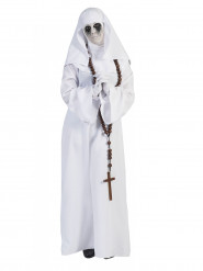 Disfarce freira branco mulher