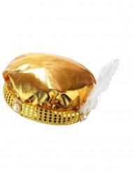 Touca dourada sultão adulto