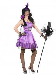 Disfarce vampira barroca violeta mulher Halloween