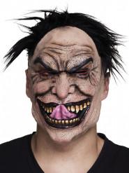 Meia máscara látex psicopata adulto Halloween
