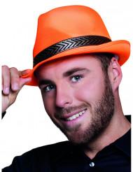 Chapéu borsalino tribly cor de laranja fluo adulto
