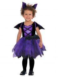 Disfarce morcego lilás bébé