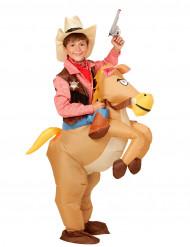 Disfarce cavalo do oeste insuflável criança