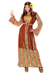 Disfarce hippie com franjas mulher