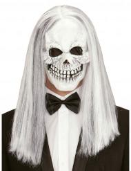 Máscara esqueleto com peruca adulto