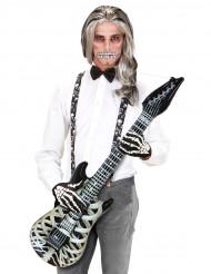 Guitarra esqueleto insuflável
