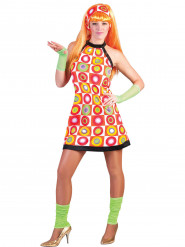 Fato retro cor de laranja mulher