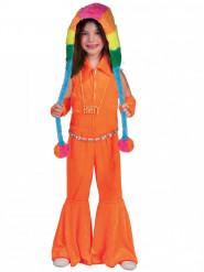 Disfarce combinação cor de laranja fluo menina
