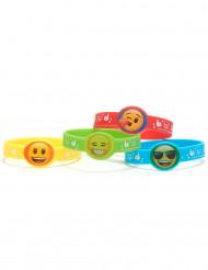 4 Pulseiras de plástico Emoji™