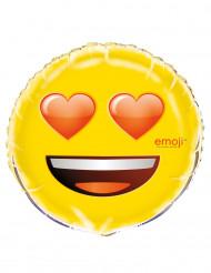 Balão alumínio corações nos olhos Emoji™