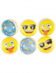 6 Bolas que saltam Emoji™ 4 cm
