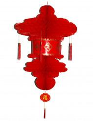 Lanterna chinesa vermelha 80 cm
