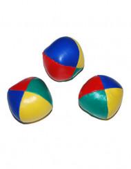 3 Bolas de malabarismo coloridas 6 cm