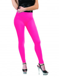 Leggings cor-de-rosa fluo adulto