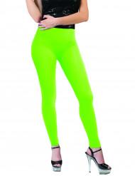 Leggings verdes fluo adulto