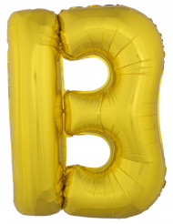 Balão alumínio dourado gigante letra B 1m