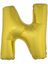 Balão alumínio dourado gigante letra N 1m