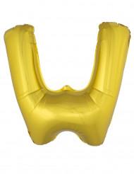 Balão alumínio dourado gigante letra W 1m